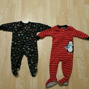 Other - 2 pairs boys footsie pajamas